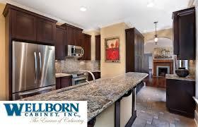 bathroom kitchen ideas with wooden wellborn cabinets plus sink