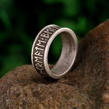 rings custom wedding images 1pc viking man 39 s rings custom rune letter signet ring wedding anel jpg