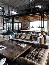warehouse style home design industrial chic interior design reclaimed brick tile