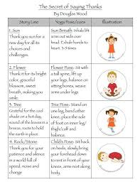 yoga poses pictures printable gratitude yoga sequence the secret of saying thanks lesson plan