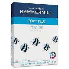 hammermill copy plus copy paper 20lb 92 bright 8 1 2 x 11