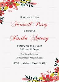 farewell party invitation classic farewell party invitation design template in word psd