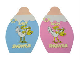 stork baby shower decorations biberon con ciguena decorativa baby shower de fomi