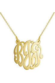 cheap monogram necklace gem factor 23mm monogram necklace from new york by let s accessorize