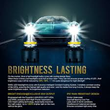 Led Light Bulbs For Headlights by Amazon Com Sngl Super Bright Led Headlight Conversion Kit