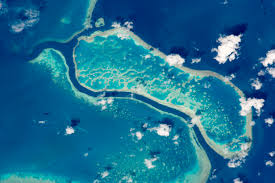 great barrier reef near whitsunday islands nasa