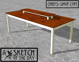 Woodworking Plans Dining Table Free by Sketch Of The Day Outdoor Dining Table Chief U0027s Shop
