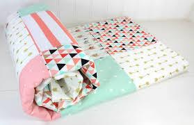 baby blanket minky blanket crib bedding blush pink mint