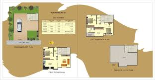 Row House Floor Plans Gold Ember Amber A Project By Ujwal Homes Row Houses In Dhayari