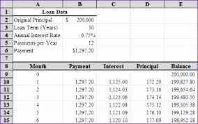 10 monthly amortization schedule excel template exceltemplates