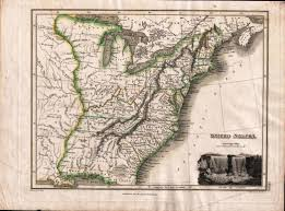 Map Of The Untied States Rare 1814 Map Of The United States Including The Short Lived State