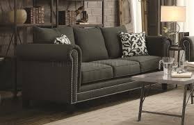 chesterfield sofa in fabric sofa 504911 in charcoal fabric by coaster w options