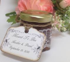 honey favors wedding favors lace wrapped honey jars 24 qty
