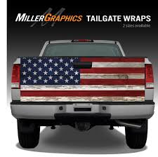 american flag truck american flag vintage wood truck tailgate vinyl graphic decal