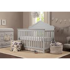 Gray Convertible Cribs by Davinci Flora 4 In 1 Convertible Crib Fog Gray Toys
