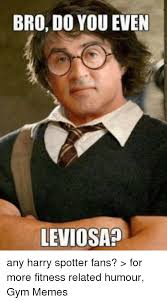 Memes Gym - bro do you even leviosa any harry spotter fans for more fitness