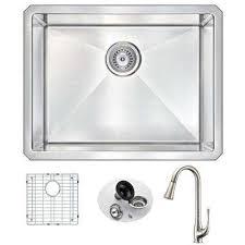 Kitchen Sink With Faucet Set Lifetime Warranty Kitchen Sinks Kitchen The Home Depot
