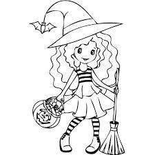 coloriage d u0027halloween 1 la petite sorcière magicmaman com