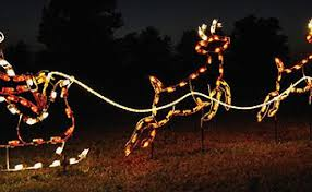 santa sleigh and lighted outdoor reindeer 12 attractive santa