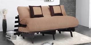 futon pillows buy futon with two pillows in light brown colour by