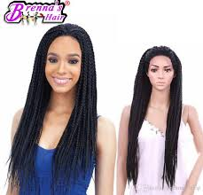 box braids hairstyle human hair or synthtic short bob hairstyle synthetic lace front wig baby hair african