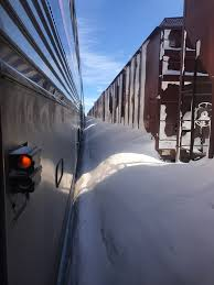 Amtrack St Paul Bound Amtrak Train Freed From Giant North Dakota Snowbank