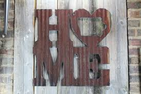 Metal Letters Home Decor Rusty Tin Home W State Cutout U2013 Rustic Metal Letters U0026 Wall Art