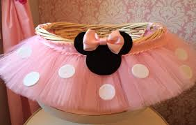 minnie mouse easter basket ideas medium minnie mouse themed tutu basket birthday tutu gift