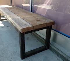 metal frame bench reclaimed wood benches black s farmwood