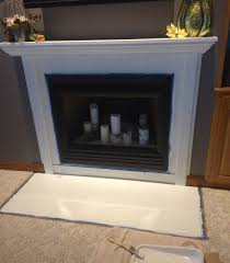 fireplace re face simple cozy charm