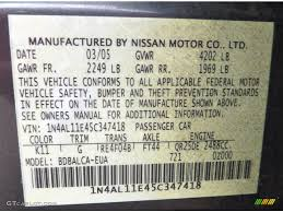 2005 nissan altima 2 5 s color code photos gtcarlot com