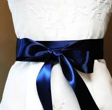 navy blue satin ribbon navy blue faced satin ribbon bridal sash belt 2 1 4 inch