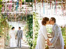 Wedding Arches Made From Trees An Outdoor Wedding With Lots Of Diy Paper Details Melissa