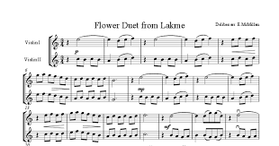 Flower Duet - flower duet from lakme for two violins