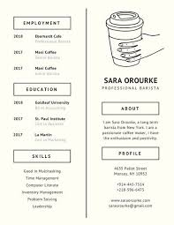 ivory coffee minimalist resume templates by canva