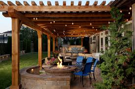 back yard kitchen ideas sted concrete patio ideas design photos houzz
