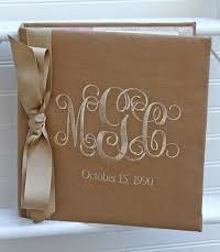 monogrammed scrapbooks and photo albums