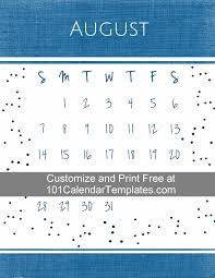 customize and print calendar templates in excel word template 2015