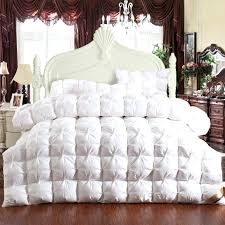 Pink Down Comforter White Pink Yellow Pinch Pleat Duck Goose Down Couette Winter