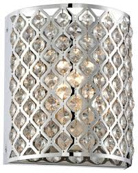 Crystal Wall Sconces by Possini Glitz Crystal Chrome 8 1 2