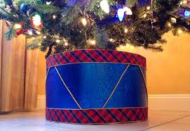 tree skirt alternative create a drum as your christmas tree stand
