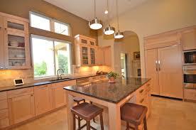 minimalist triangular kitchen island with l shape granite counter