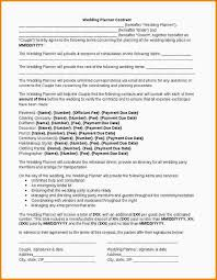 Event Planner Resume Template Sample Event Planning Contract Sample Contracts For Event