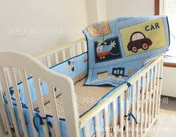 Train Cot Bed Duvet Cover Promotion 3pcs Car Embroidery Pattern Baby Cot Crib Bedding Set