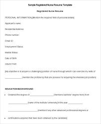 free rn resume template resume template free nurses resume templates nursing