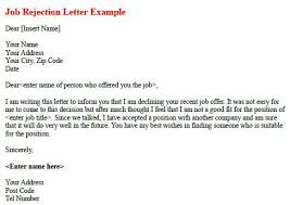 job rejection letter example forums learnist org