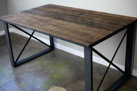 rustic metal and wood dining table furniture modern ideas for dining room decoration with black rustic