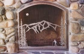 rustic fireplace screen fireplace ideas