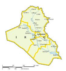 map of irak iraq only map mapsof net