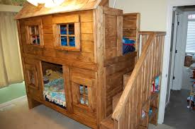Wooden Loft Bed Diy by Ana White Rustic Cabin Bunk Bed Diy Projects